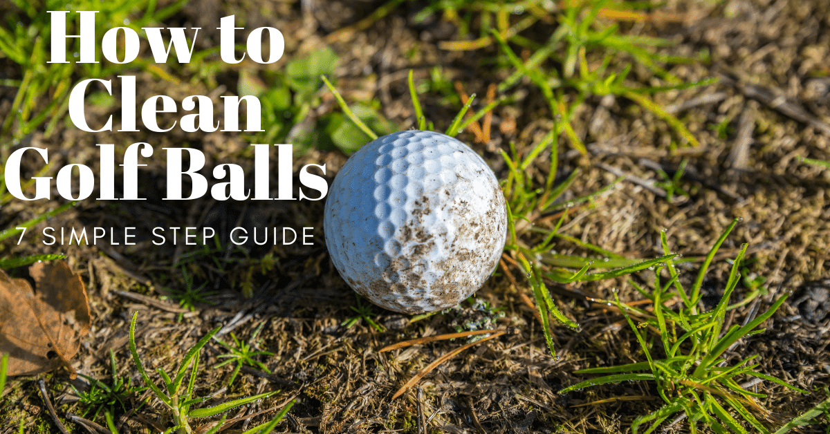 how to clean golf balls
